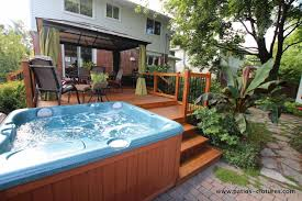 Deck And Patio Design Ideas by Awesome Hot Tub Design Ideas Photos Rugoingmyway Us