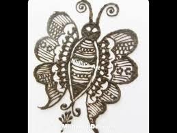 butterfly bird henna mehndi tattoo design tutorial youtube