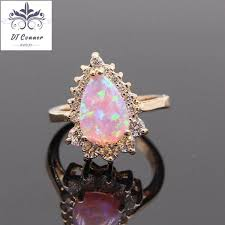 opal wedding ring simple chagne gold color opal wedding ring dtconner