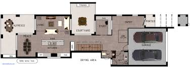narrow cottage plans small house plans for narrow lots