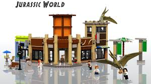 lego jurassic world jeep lego ideas jurassic world main street mayhem