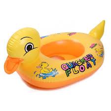 siege bebe gonflable bouée bébé gonflable siège anneau de natation petit canard jaune