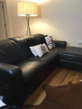 ikea black leather sofa ikea leather sofas ebay