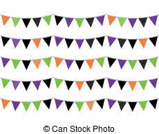 eps vector of halloween banner bunting or flags on transparent