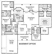 floor plans with basement 1 level house plans with basement
