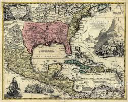 Usps First Class Shipping Time Map Historic 1759 Map Of New Spain Spanish Colonies 24x30