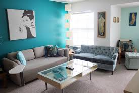 grey white and turquoise living room modern gray beautifully blue