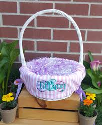 personal easter baskets personalized easter basket liners for or boys 5 colors
