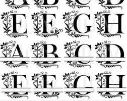 monogramed letters split letter etsy