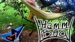 hammbag hammock backpack u0026 towel youtube