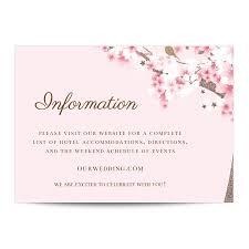 Cherry Blossom Wedding Invitations Cherry Blossom Invitation