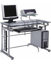 Glass Computer Desk Cyber Monday Savings Acme Felix Computer Desk Silver Chrome And