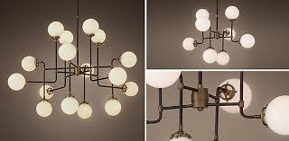Restoration Hardware Pendant Light Bistro Globe Chandelier Collection Rh