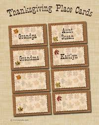 Thanksgiving Place Cards Craft 289 Best Thanksgiving Images On Pinterest Thanksgiving