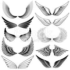 set of stylized wings hi res jpeg included more works like this