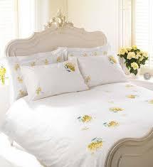 Yellow Comforter Twin White U0026 Yellow Hydrangea Bedding Yellow Comforter White Bedding