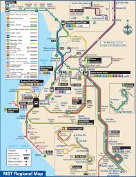 San Jose Bus Routes Map by Transit Information Cal State Monterey Bay