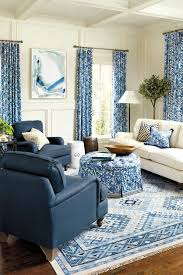 how to hang drapes how to decorate blue and white living room