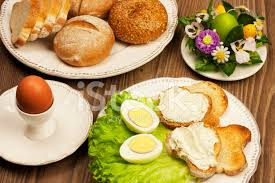 easter dishes traditional traditional easter breakfast stock photos freeimages