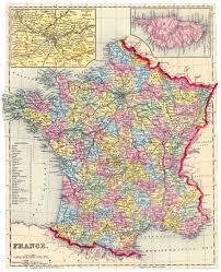 France Map Cities by Large Detailed Old Political And Administrative Map Of France With