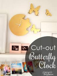butterfly silhouette clock reality daydream how to make your own butterfly cutout clock where it looks
