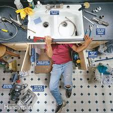 installing kitchen faucet replacing a kitchen faucet how to install sink pipes under in