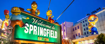 Springfield Map Universal Studios Los Angeles Map Indiana Map Do They Have Park