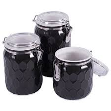 black ceramic kitchen canisters dii 3 modern honeycomb half matte glaze ceramic