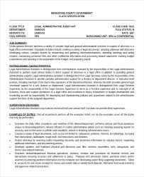 Examples Of Administrative Assistant Resume by Legal Administrative Assistant Resume U2013 7 Free Pdf Documents