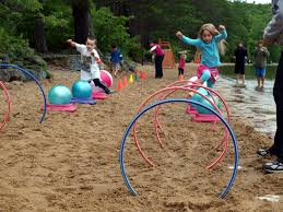 lake game for kids create an obstacle course using hula hoops