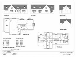 Chalet Bungalow Floor Plans by Bedroom Four Bedroom Bungalow House Plans
