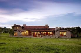 architecture large ranch home designs with red pointed roof and