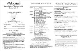 church programs templates comfortable church bulletin template photos resume ideas