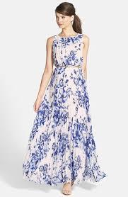 eliza j print pleat chiffon maxi dress regular u0026 petite