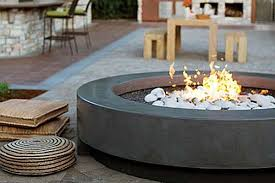 Concrete Firepit Modern Outdoor Firepit Inspiration Honeysuckle Patio