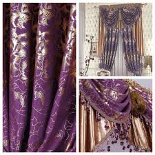 Plum Velvet Curtains Flower Quality The Blind Purple Luxury Classical Classic Rustic