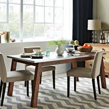 Solid Wood Table W Stainless Steel Top West Elm - Stainless steel kitchen table top