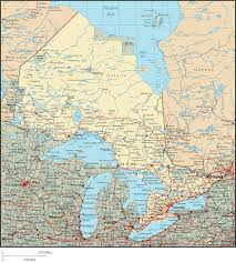 Maps Canada by Ontario Map Ontario Canada U2022 Mappery