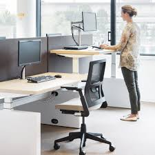 Sit Stand Office Desk by Ahrend Four Two Sit Stand Bench Desk Apres Furniture