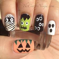halloween nails diy the crafty ninja