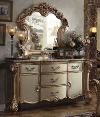 Mirror Dressers Sale 2095 00 Vendome Traditional Dresser With Mirror Gold