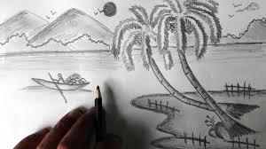 pencil art drawings nature easy pencil sketch drawing nature