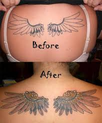 feminine wings cover up for cover up tattoos