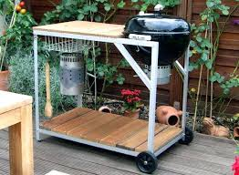 how to build a weber grill table weber kettle grill table grill side table a kettle weber kettle