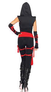 ninja costume women ladies fancy dress party role play for