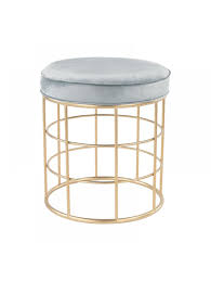 Gray And Gold Stool Gray And Gold