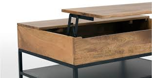 mango wood coffee table with storage lomond lift top coffee table with storage mango wood and black