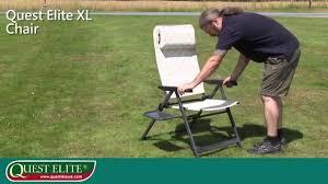 Quest Directors Chair Side Table Quest Elite Xl Chair Up Unfolding Youtube