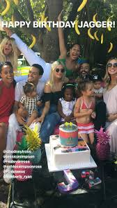 ashlee simpson u0027s daughter jagger marks second birthday with vinyl