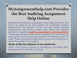 Auditing Assignment Help Online From MyAssignmenthelp com Experts SlideShare